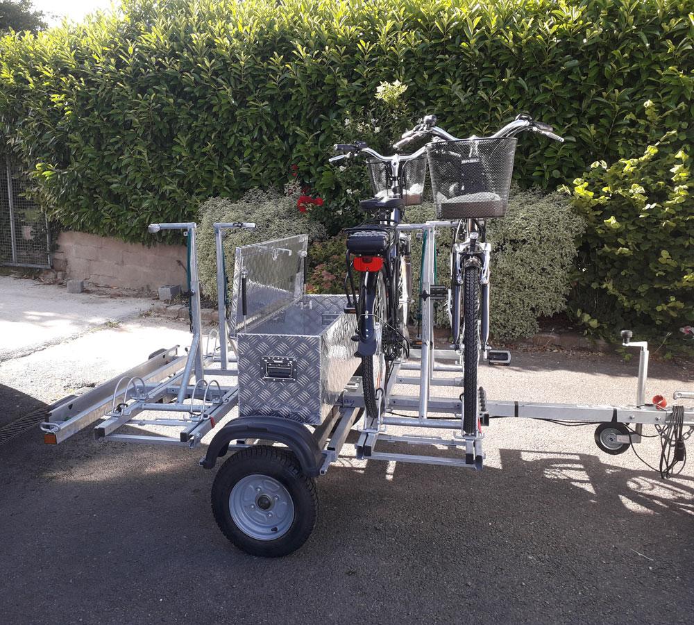 Vélo émeraude - location de remorque de transport vélos